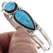 Sterling Silver Native American Cuff Bracelet 34337