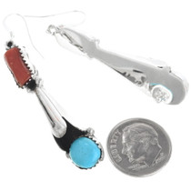Navajo Sterling Silver Turquoise Earrings 34343