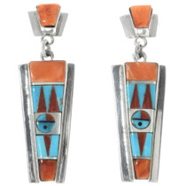 Zuni Sunface Post Dangle Earrings 34344