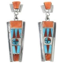 Zuni Sunface Post Dangle Earrings 34344