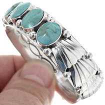 Sterling Silver Turquoise Bracelet 34346