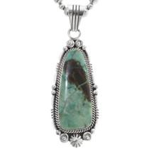 Navajo Green Turquoise Pendant 34348