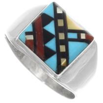 Zuni Inlaid Turquoise Ring 34352
