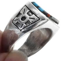 Turquoise Pueblo Design Zuni Ring 34353