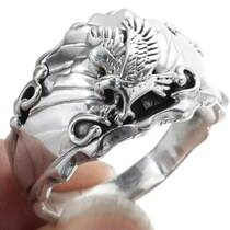 Sterling Silver Navajo Eagle Ring 34354