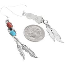 Navajo Sterling Silver Feather Earrings