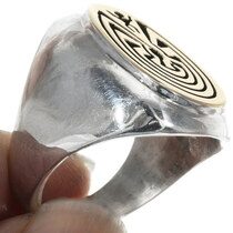 Navajo Gold Mens Ring 34359