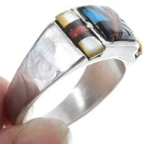 Zuni Inlaid Turquoise Mens Ring 34364