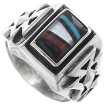 Zuni Inlay Mens Ring 34365