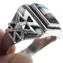 Sterling Silver Pueblo Overlay Zuni Ring 34365