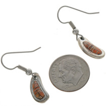 Zuni Inlaid Oyster Shell Earrings 23683