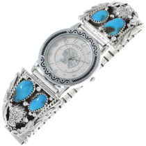 Navajo Turquoise Buffalo Watch 34371