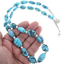 Navajo Turquoise Bead Necklace 34382