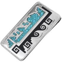 Inlaid Turquoise Money Clip 34383