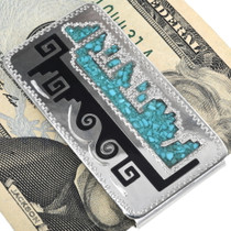 Navajo Geometric Pattern Silver Money Clip 34383