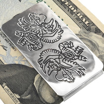 Zuni Pattern Native American Money Clip 34384