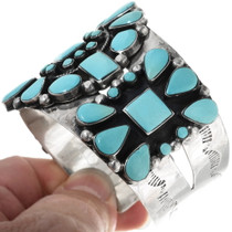 Sterling Silver Turquoise Cuff Bracelet 34390