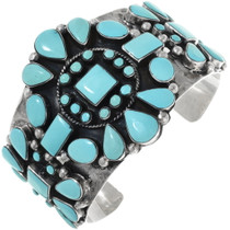 Old Pawn Navajo Turquoise Bracelet 34390