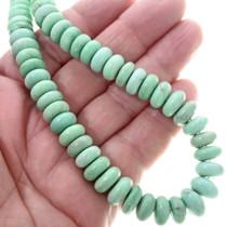 Variscite Rondelle Bead Navajo Necklace 34394