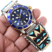 Zuni Turquoise Inlay Watch 34395