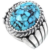 Navajo Spiderweb Turquoise Ring 34397