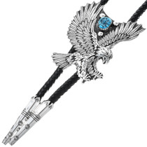 Navajo Overlay Sterling Silver Bolo Tie 34398