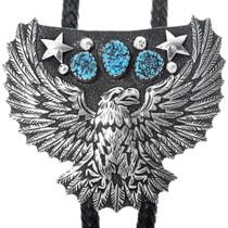 Turquoise Eagle Bolo Tie 34399
