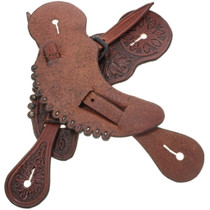 Hand Tooled Leather Cowboy Spur Straps 34412
