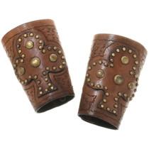 Vintage Studded Cowboy Wrist Cuffs 34413