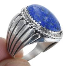 Navajo Sterling Silver Lapis Lazuli Ring 34414