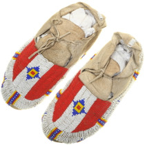 Vintage Sioux Indian Moccasins 34418