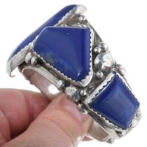 Heavy Sterling Silver Cuff Lapis Bracelet 34422