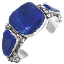 Vintage Lapis Silver Navajo Bracelet 34422
