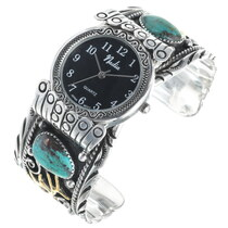 Turquoise Coral Elk Watch Cuff 34424