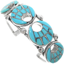 Native American Turquoise Bracelet Necklace Set 34429
