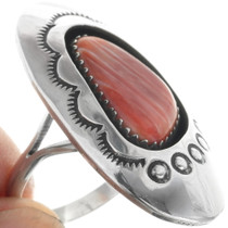 Navajo Sterling Silver Ring Spiny Oyster 34442