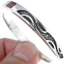 Turquoise Chip Inlay Navajo Bracelet 34450