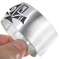 Native American Silver Overlay Hopi Bracelet 34452