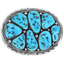 Vintage Navajo Sleeping Beauty Turquoise Belt Buckle 34456