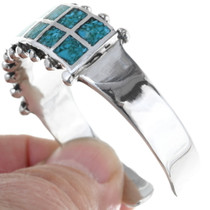 Sterling Silver Turquoise Western Bracelet 34458