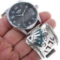 1976 Bicentennial Silver Navajo Watch 34476