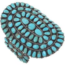 Old Pawn Petit Point Turquoise Bracelet 34478