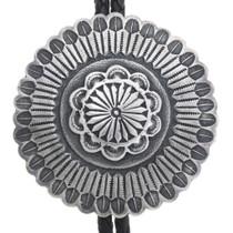 Native American Silver Western Bolo Tie 34484