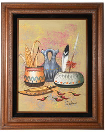 Vintage Native American Pottery Original Painting 34486