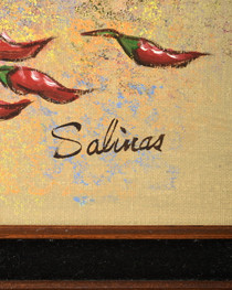 Southwest Pottery Painting Artist Signed Salinas 34486