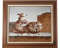 Southwest Broken Pottery Original Painting 34487