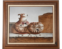 Southwest Broken Pottery Original Painting 34487