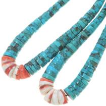 Turquoise Heishi Necklace 34489