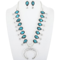 Genuine Turquoise Squash Blossom Necklace 29960