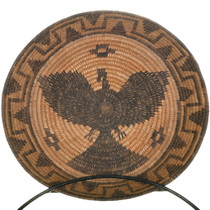 Vintage Apache  Indian Eagle Basket Tray 34468